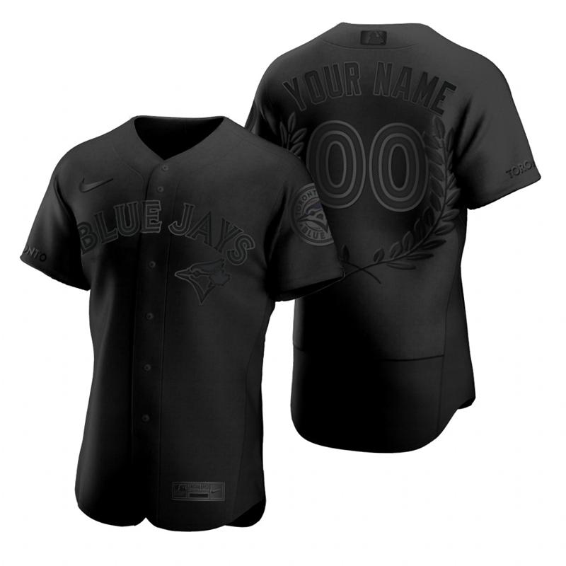 Blue Jays Customized Black Nike Flexbase Fashion Jersey