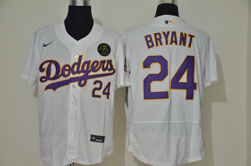 Dodgers 24 Kobe Bryant White 2020 Nike KB Flexbase Jersey