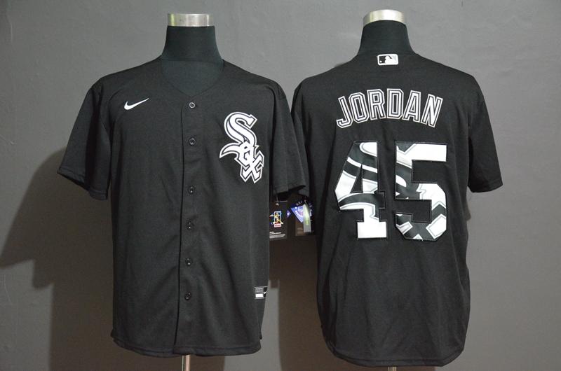 White Sox 45 Michael Jordan Black 2020 Nike Cool Base Fashion Jersey