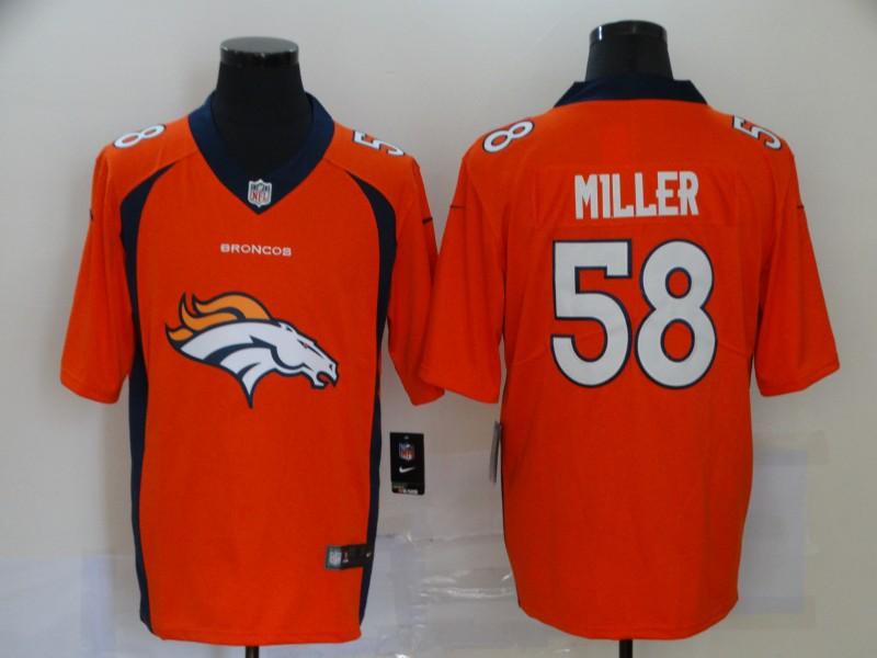 Nike Broncos 58 Von Miller Orange Team Big Logo Vapor Untouchable Limited Jersey