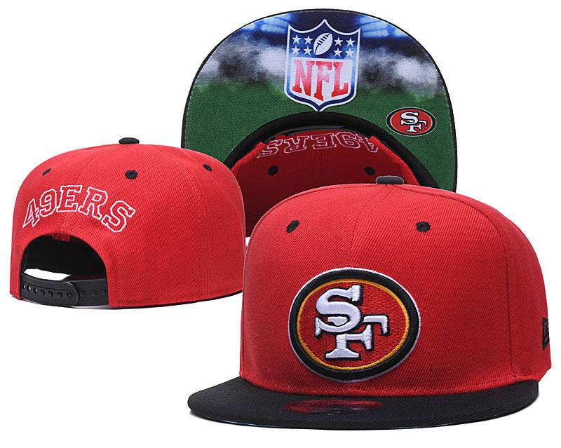 49ers Team Logo Red Adjustable Hat GS