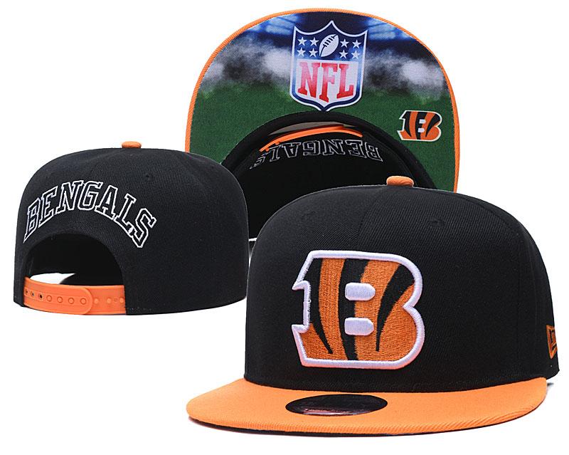 Bengals Team Logo Black Adjustable Hat GS