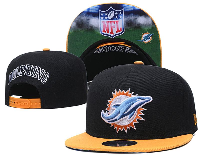 Dolphins Team Logo Black Adjustable Hat GS