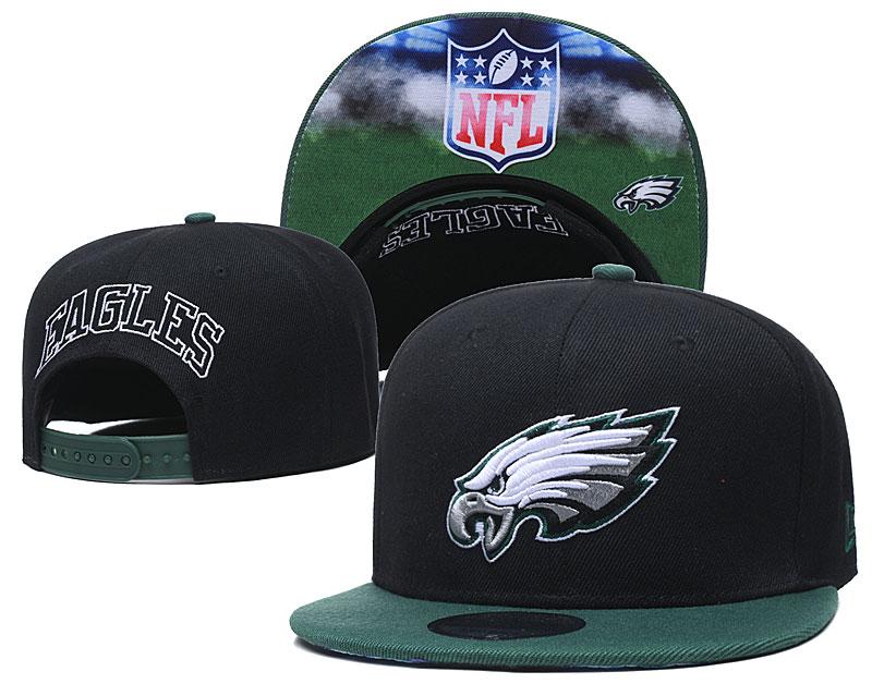 Eagles Team Logo Black Green Adjustable Hat GS