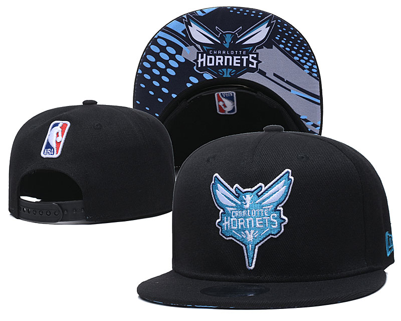 Hornets Team Logo Black Adjustable Hat GS