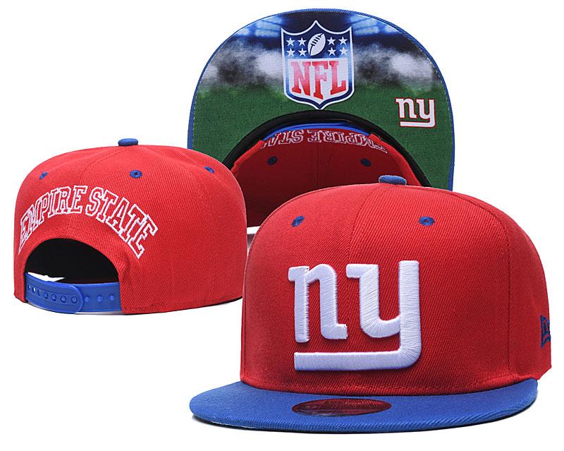 New York Giants Team Logo Red Royal Adjustable Hat GS