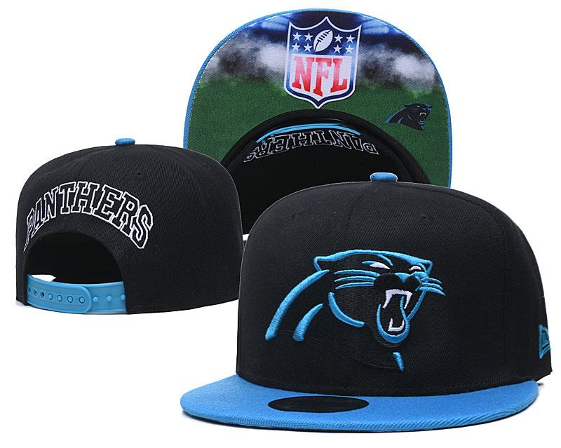 Panthers Team Logo Black Adjustable Hat GS
