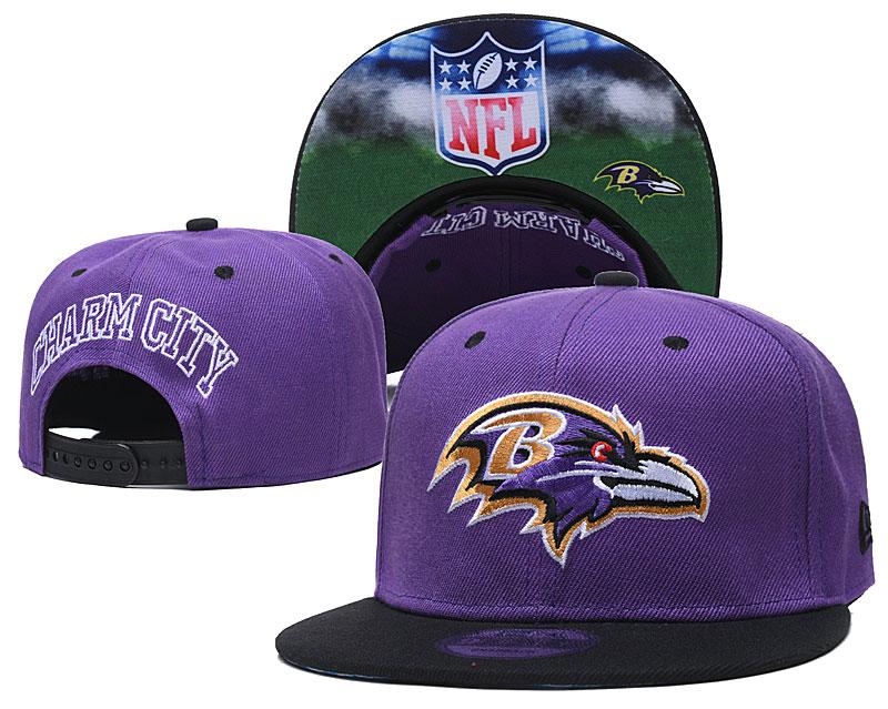 Ravens Team Logo Purple Adjustable Hat GS