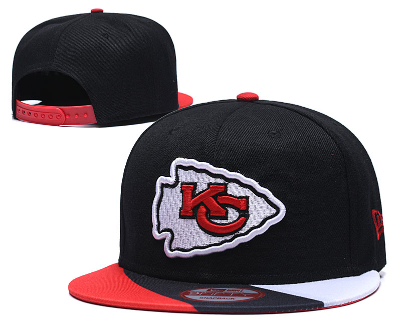 Chiefs Team Logo Black Adjustable Hat LT
