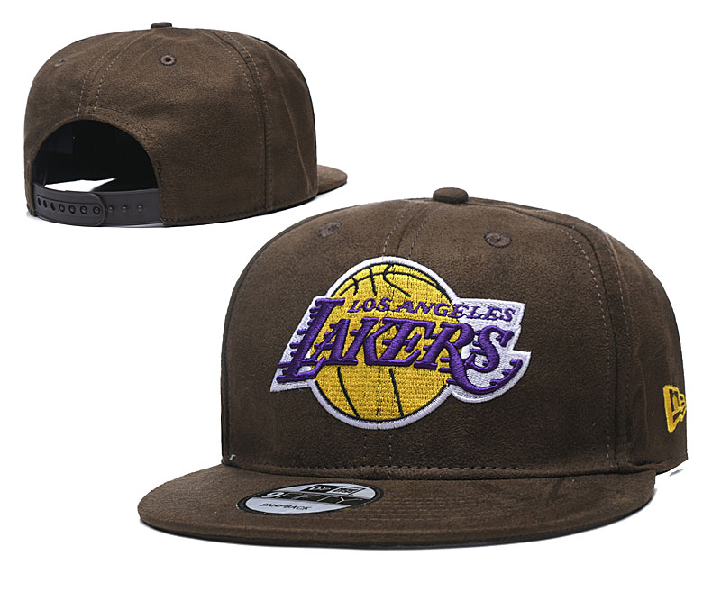 Lakers Team Logo Browns Adjustable Hat TX