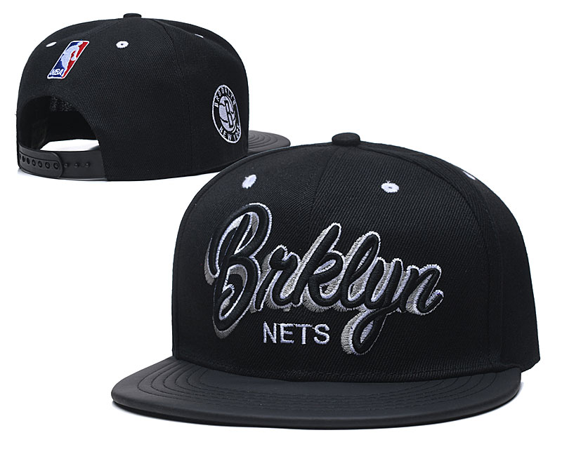 Nets Team Logo Black Adjustable Hat TX