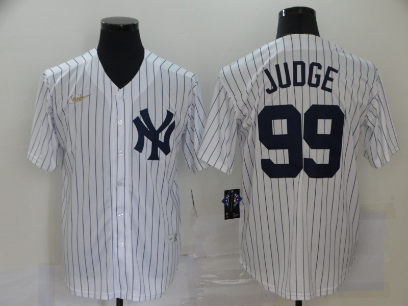 Yankees 99 Aaron Judge White Nike Cool Base Jersey