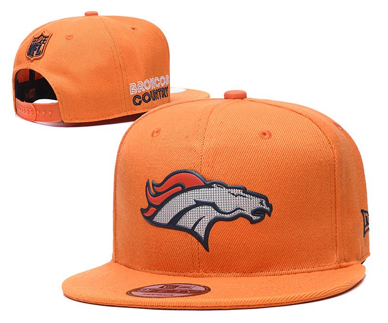Broncos Team Logo Orange Adjustable Hat YD