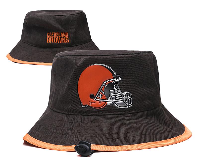 Browns Team Logo Brwon Wide Brim Hat YD