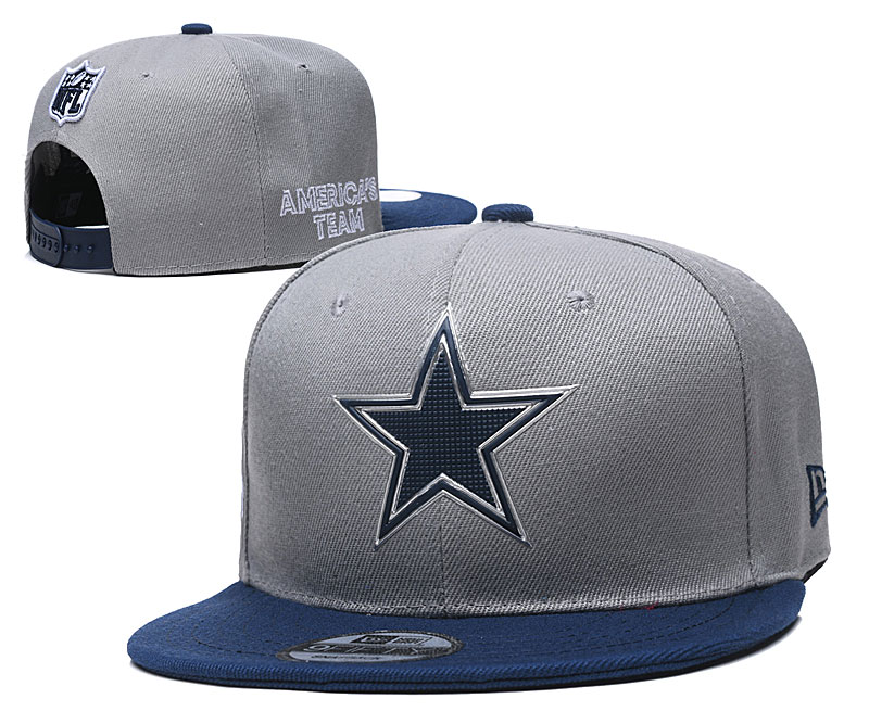 Cowboys Team Logo Gray Adjustable Hat YD