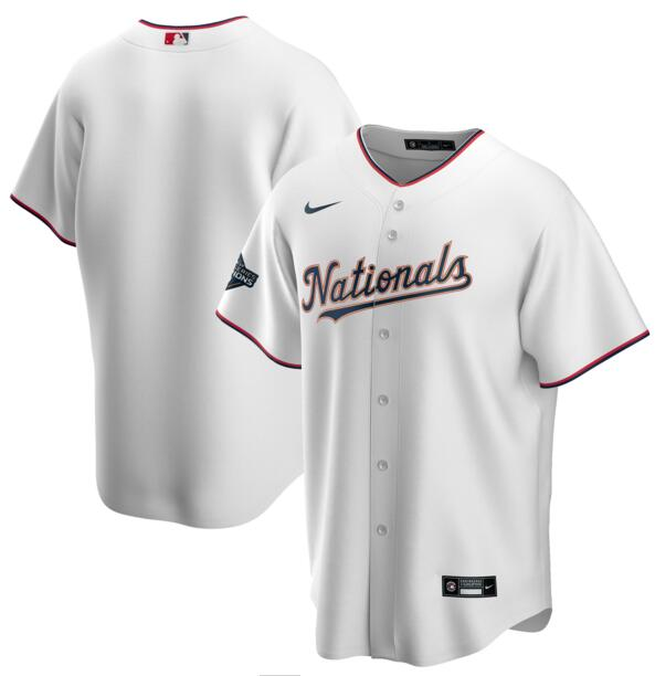 Nationals Blank White Gold Nike 2020 Gold Program Cool Base Jersey