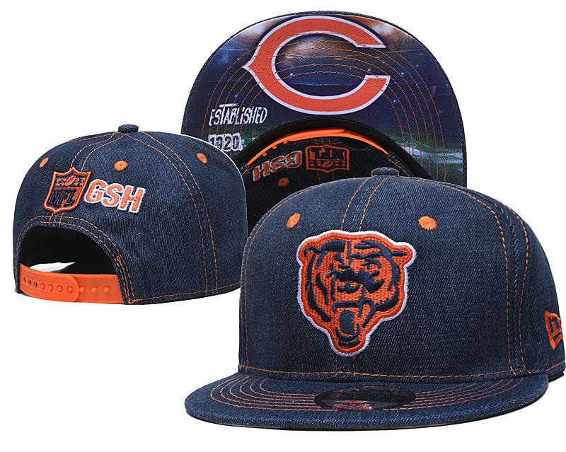 Bears Team Logo Navy Established Adjustable Hat YD