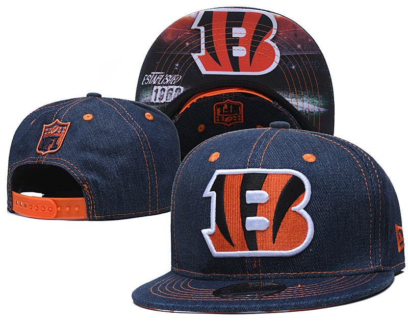 Bengals Team Logo Navy Established Adjustable Hat YD