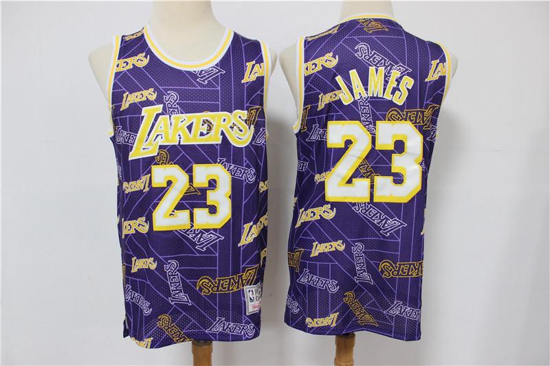Lakers 23 Lebron James Purple Tear Up Pack Hardwood Classics Swingman Jersey