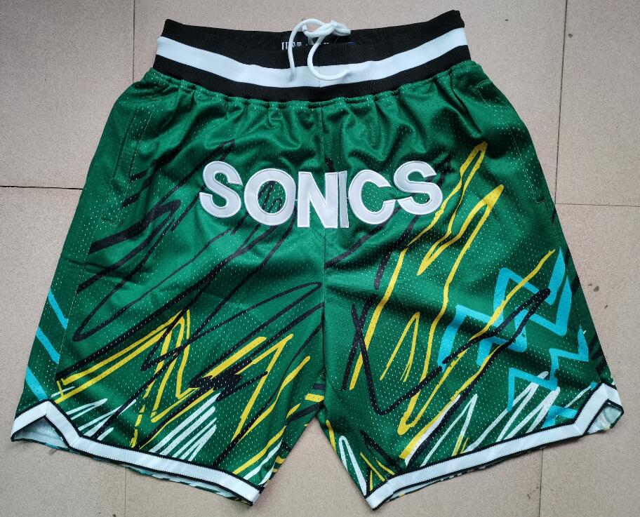 SuperSonics Green Just Don With Pocket Swingman Shorts