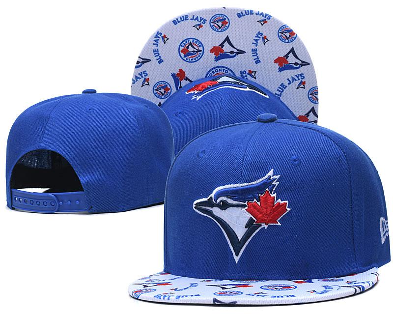 Blue Jays Team Logo Royal White Adjustable Hat TX