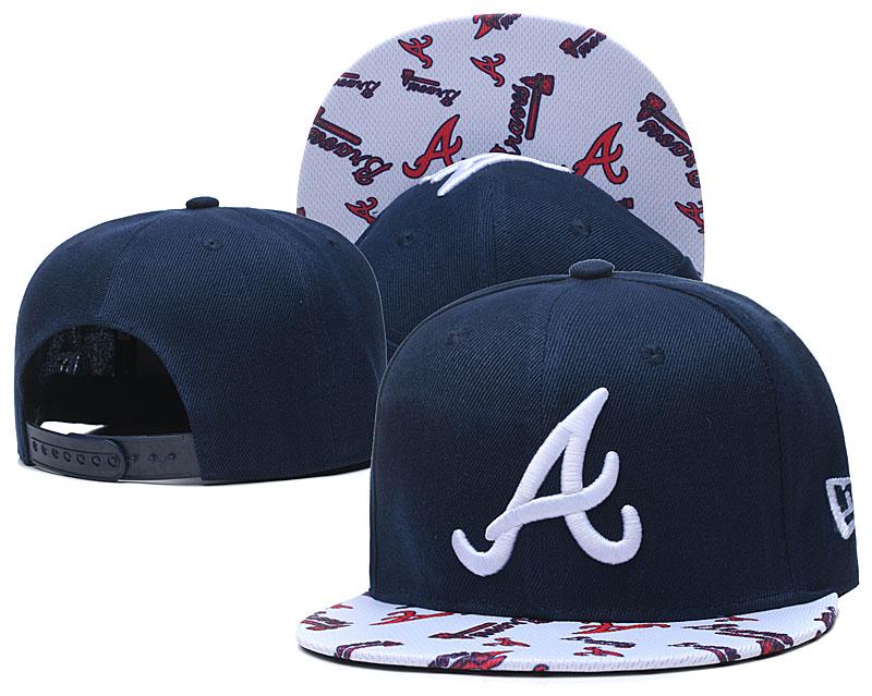 Braves Team Logo Navy White Adjustable Hat TX