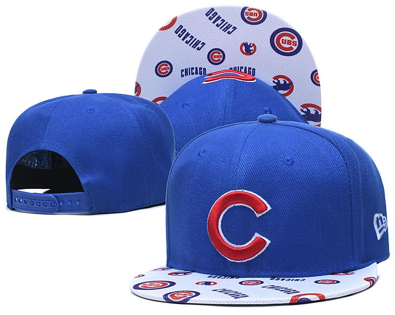 Cubs Team Logo Royal White Adjustable Hat TX