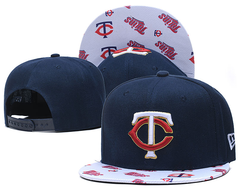 Twins Team Logo Navy White Adjustable Hat TX