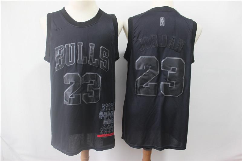 Bulls 23 Michael Jordan Black Nike Swingman MVP Jersey