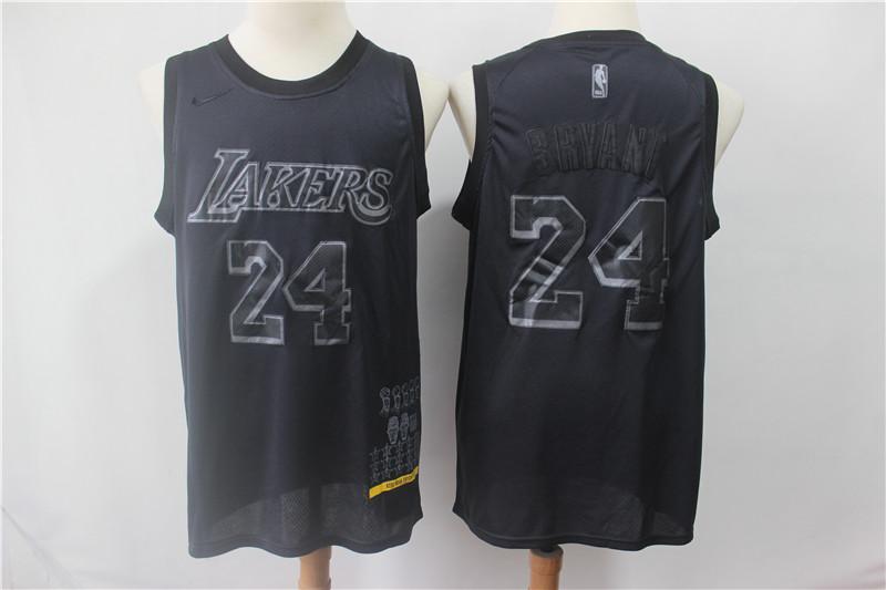 Lakers 24 Kobe Bryant Black Nike Swingman MVP Jersey