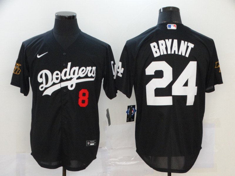 Dodgers 24 Kobe Bryant Black 2020 Nike KB Cool Base Jersey