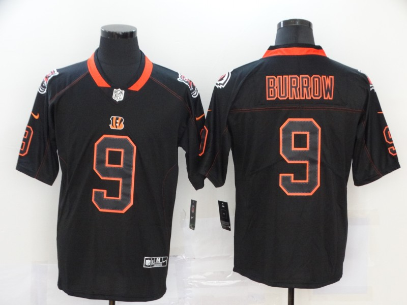 Nike Bengals 9 Joe Burrow Black Shadow Legend Limited Jersey