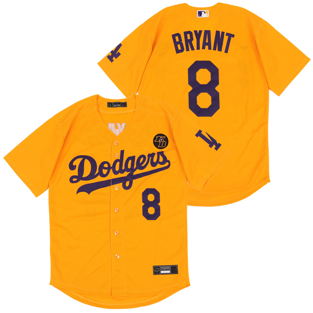 Dodgers 8 Kobe Bryant Yellow 2020 Nike KB Cool Base Jersey