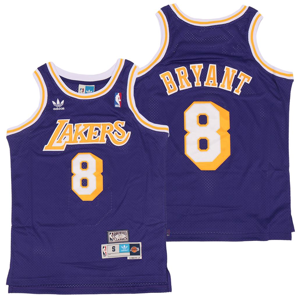 Lakers 8 Kobe Bryant Purple Adidas Hardwood Classics Jersey
