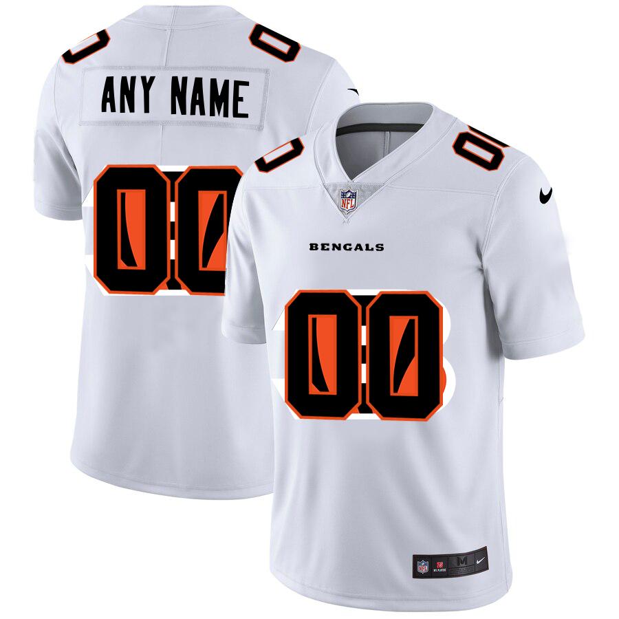 Nike Bengals Customized White Team Big Logo Vapor Untouchable Limited Jersey
