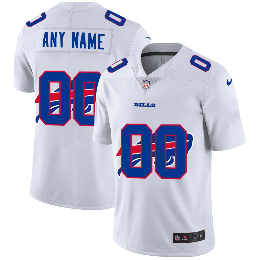 Nike Bills Customized White Team Big Logo Vapor Untouchable Limited Jersey