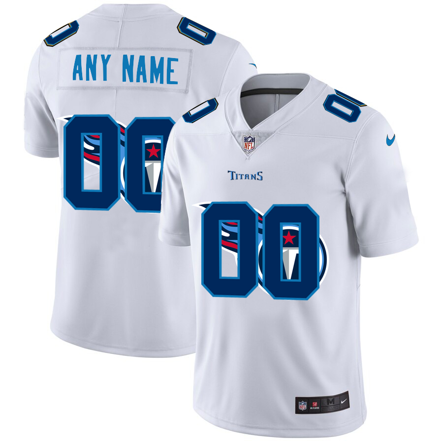 Nike Titans Customized White Team Big Logo Vapor Untouchable Limited Jersey