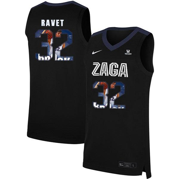 Gonzaga Bulldogs 32 Brock Ravet Black Fashion College Basketball Jersey