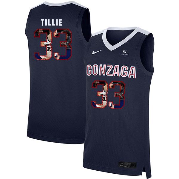 Gonzaga Bulldogs 33 Killian Tillie Navy Fashion College Basketball Jersey