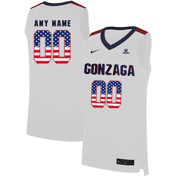 Gonzaga Bulldogs Customized White Fashion College Basketball Jersey