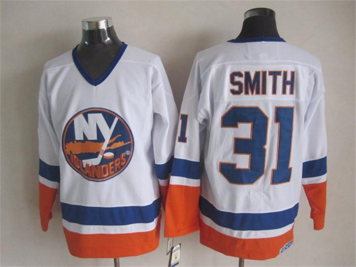 Islanders 31 Smith White CCM Jersey