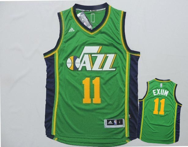 Jazz 11 Exum Green New Revolution 30 Jerseys
