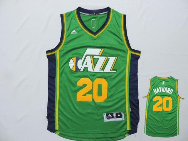 Jazz 20 Hayward Green New Revolution 30 Jerseys