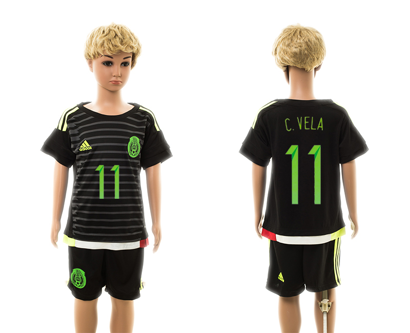 2015-16 Mexico 11 C.Vela Home Youth Jersey