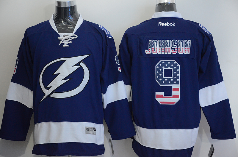 Lightning 9 Johnson Blue US Flag Reebok Jersey