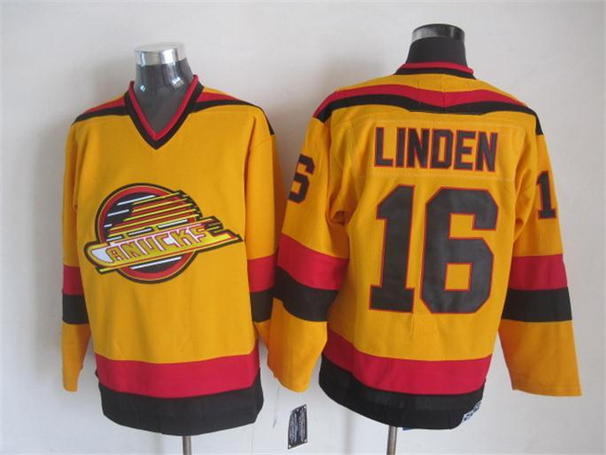 Canucks 16 Linden Yellow Jersey