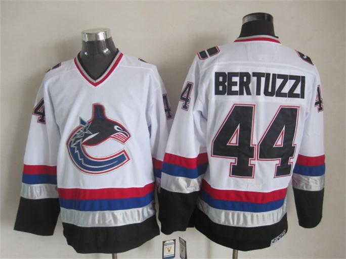Canucks 44 Bertuzzi White Jersey