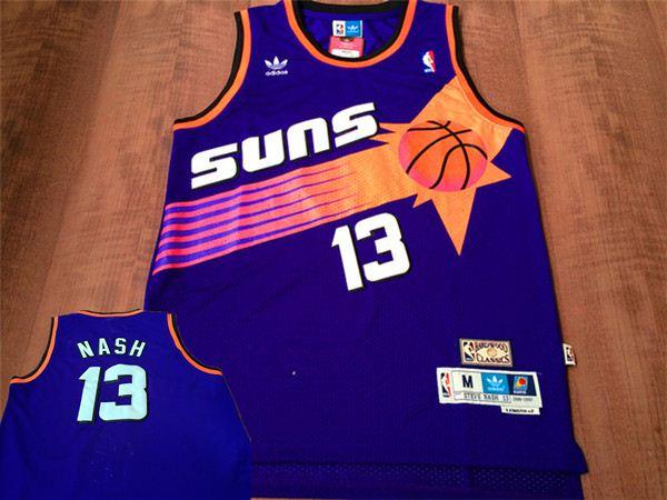 Suns 13 Nash Purple Hardwood Classics Jersey