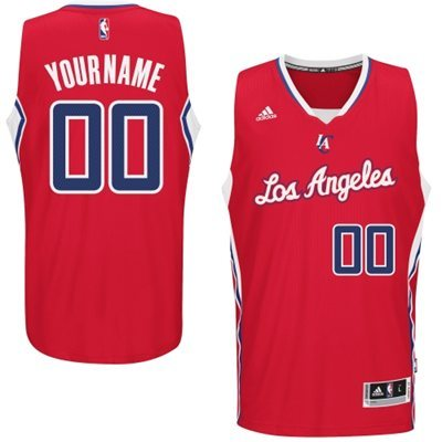 Los Angeles Clippers Red Men's Customize New Rev 30 Jersey