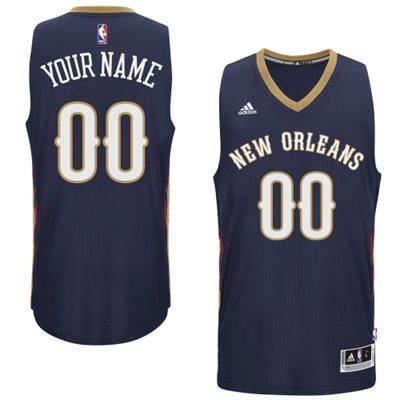 New Orleans Pelicans Blue Men's Customize New Rev 30 Jersey
